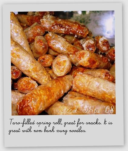 taro spring rolls