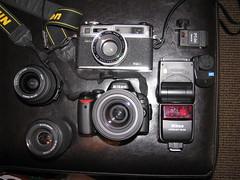 Setup (grahamlossin.) Tags: film digital nikon setup