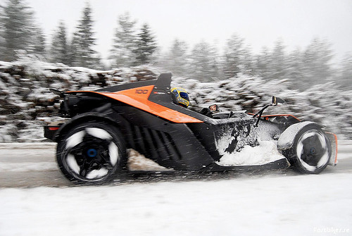 KTM X-Bow in the snow
