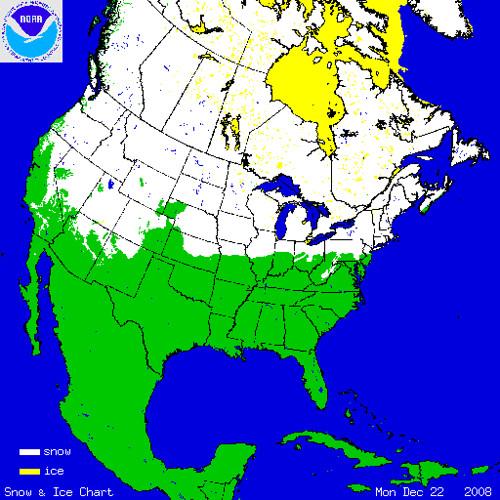 North America snowcover 12-22-08