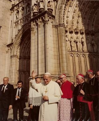 Juan Pablo II en la Catedral de Toledo. 4 de Noviembre de 1982
