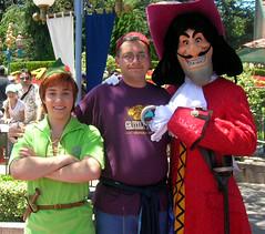 Peter Pan and Captain Hook (disneyphilip) Tags: disneyland peterpan characters fantasyland captainhook