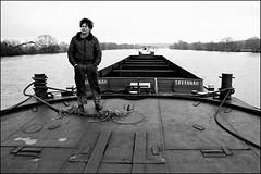 Le marinier du Blier, en route vers Rouen. (denisrigaud) Tags: pniche conflansstehonorine marinier
