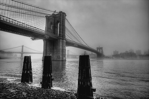 Brooklyn Bridge 2 B&W