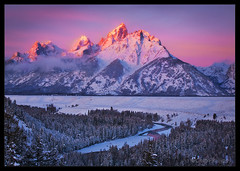 Grand Teton Winter (Chip Phillips) Tags: park christmas pink winter red orange snow river snowy snake grand jackson national wyoming teton alpenglow overtheexcellence goldstaraward alemdagqualityonlyclub vosplusbellesphotos