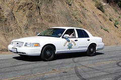 CALIFORNIA HIGHWAY PATROL (CHP) (Navymailman) Tags: california car highway vehicles policecar chp vehicle santamonicamountains emergency lawenforcement patrol marked californiahighwaypatrol policeinterceptor mulhollandhighway slicktop fordcrownvic
