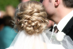 wedding hair (rlonas) Tags: wedding hair temple groom bride veil sandiego marriage stephanie bridal lds braid weddinghair bridehair