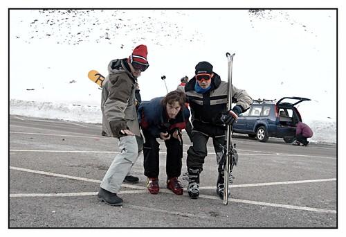 Los tres esquiadores
