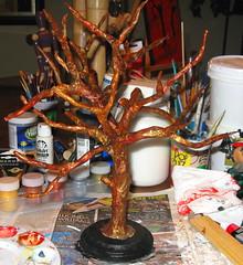Tree Nymph Sculpture in Progress (ARTerEgo) Tags: watercolor acrylic folkart mixedmedia clay papermache dryad treenymph apoxiesculpt