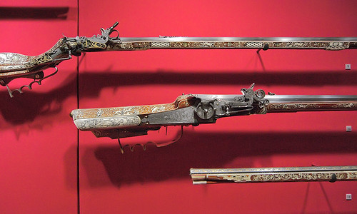 Saint Louis Art Museum, in Saint Louis, Missouri, USA - firearms