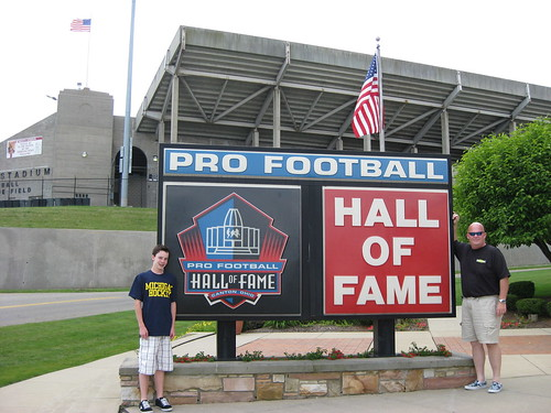 The Maxwells at the Football Hall of Fame