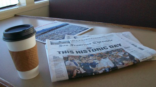 picture of my stuff while on the ferry, missing  the swearing in in DC