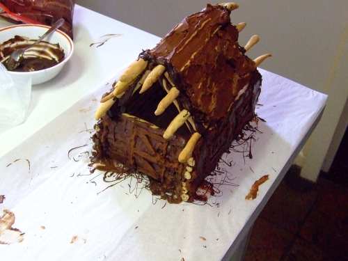 chocolate log cabin 26