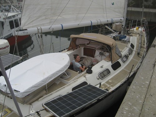 dinghy on deck