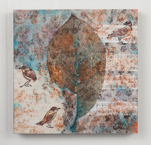 Mixed Media collage - Little Birds