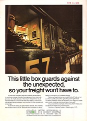 Trains Magazine, March 1975 (mod as hell) Tags: southern 1975 trainsmagazine 1970sads