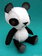 Meili the Panda (Nonesuch Garden) Tags: cute wool animal garden stuffed panda felt plush softie kawaii plushie nonesuch