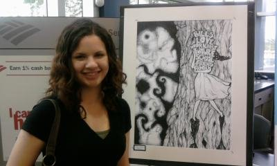 "Holly's ""Life Balance"" at Art Show"