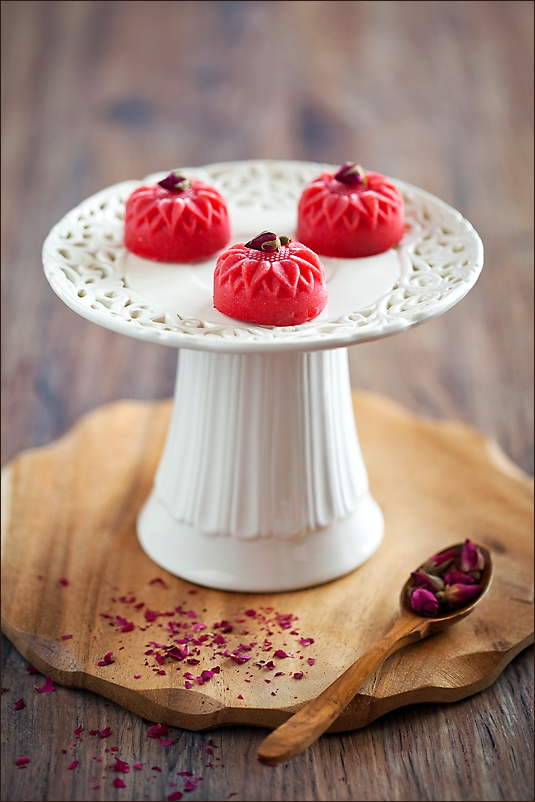 Strawberry and Rose Sorbet