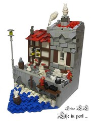 Life in port ('LL') Tags: life roof window water port lego fig harbour pirates shapes pirate ll techniques minifigures lolino