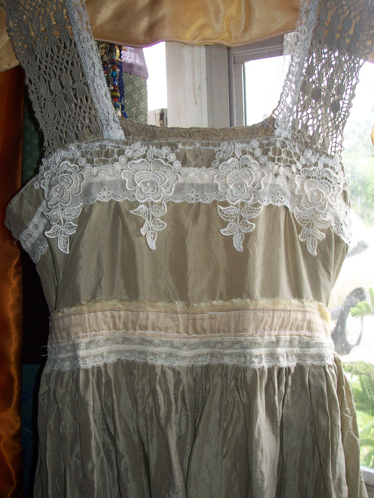 OOAK Silk and Lace Reconstructed Baby Doll Dress