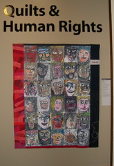 Entrance to Quilts & Human Rights Exhibit