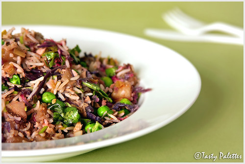 Purple Kale Pulao