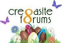 Cre8asite Forums Easter Logo