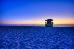 Sunrise on South Beach (Erik Holmberg) Tags: ocean blue sun beach water sunrise sand florida miami south ships southbeach