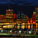 Baltimore Skyline at Night by NearDC