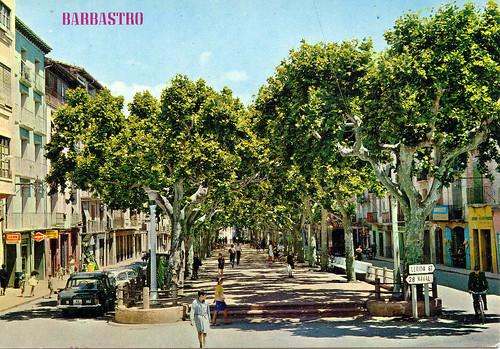 Barbastro, Paseo del Generalísimo. 1967.