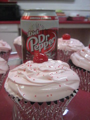 Dr.Pepper Chocolate Cherry Cupcakes. (foodcore) Tags: cherry cupcakes yum chocolate drpepper cupcake soda limitededition frosting chocolatecherry