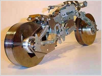 motor cycle from computer parts