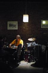 Dark (wirelessnic) Tags: light bar dark drums person mood room instruments sigma30mmf14exdchsm nikond200