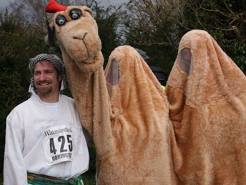 Humphrey and Mustafa before the 2008 Goring 10k