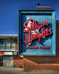 Silver Heights Shopping Centre (bryanscott) Tags: building sign st architecture silver mall typography james winnipeg manitoba signage type portage avenue heights