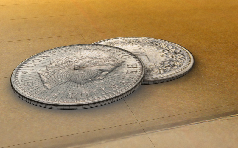münzen frame