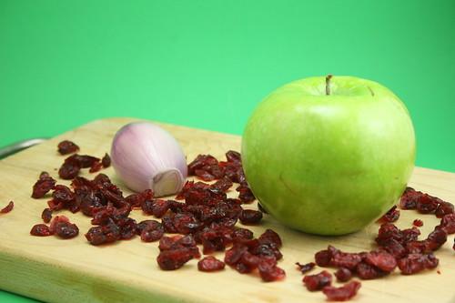 Apple, shallot, and craisins