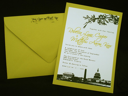 Wedding Invitations - Becca and Matt, , wedding cakes, flowers, invitation, photos, gowns, dresses