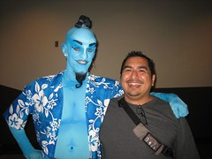 Ryan as the Genie, posing with James. (08/26/2006)