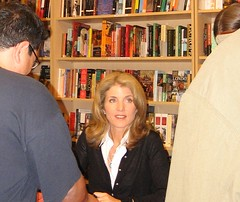Caroline Kennedy, with James at left. (10/17/2005)