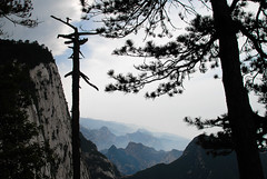 Hua Shan 2 (Penelope's Loom) Tags: china travel blue trees mountains silhouette nikon chinese silhouettes xian d200 shaanxi huashan interestingness94 explored 18200mmvr explore11jun08