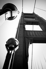 South Tower (lacadaz) Tags: sanfrancisco ca bridge blackandwhite usa goldengate
