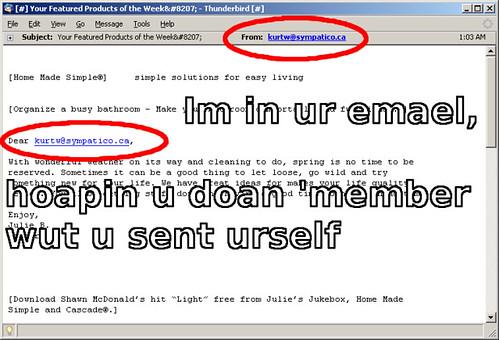 self-spam