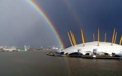 Rainbow on the Dome (timinbrisneyland) Tags: england london thames rainbow millenniumdome