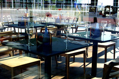 Empty Tables 02 (Karen_O'D) Tags: reflection window liverpool table glasses chairs albertdock merseyside capitalofculture liverpool08