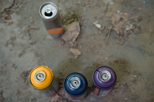 Spray Paint And Energy Drink