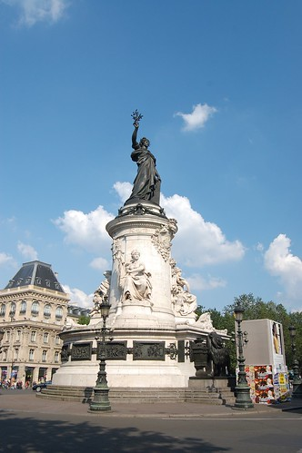 Paris Roundabout Centers #1: Marianne at Place Republique