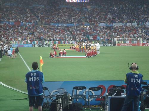 EM 2008. Spanien - Italien. Hymnen