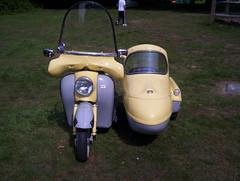 circa 1960 Dayton Flamenco + Side Car (Jimothey) Tags: bug sussex scooter bmw bond flamenco dayton isetta minicar messerschmitt loxwood